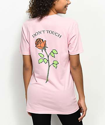 JV by Jac Vanek Don't Touch Rose Pink T-Shirt