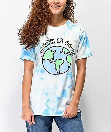 JV by Jac Vanek Earth Is Cool camiseta con efecto tie dye