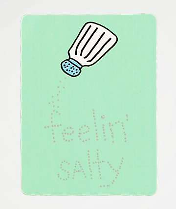 JV by Jac Vanek Feelin Salty Sticker