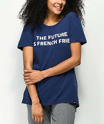 JV by Jac Vanek Future Is Fries Navy T-Shirt