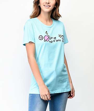 JV by Jac Vanek Get Me Out Of Here Blue T-Shirt
