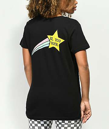 JV by Jac Vanek Hi You Suck Star Black T-Shirt