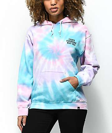 JV by Jac Vanek I Hate Everyone Tie Dye Hoodie