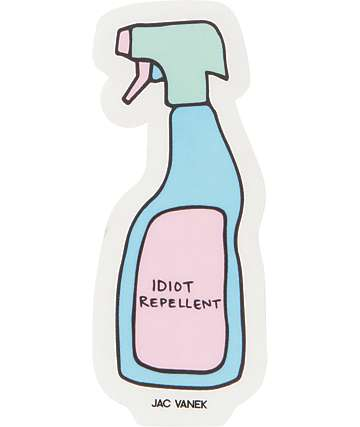JV by Jac Vanek Idiot Repellent Sticker