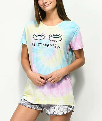 JV by Jac Vanek Is It Over Yet Tie Dye T-Shirt