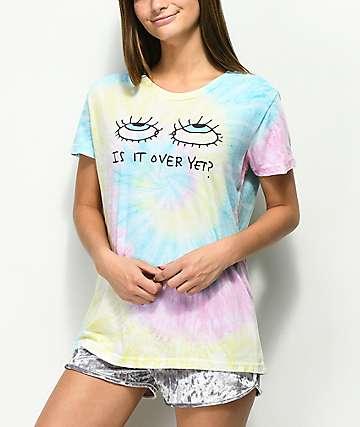 JV by Jac Vanek Is It Over Yet camiseta con efecto tie dye