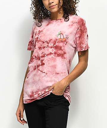 JV by Jac Vanek Just Bite Me Pink Tie Dye T-Shirt