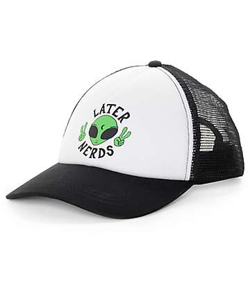 JV by Jac Vanek Later Nerds Black Snapback Trucker Hat