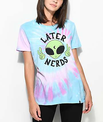 JV by Jac Vanek Later Nerds camiseta con efecto tie dye
