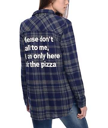 JV by Jac Vanek Pax Navy & Grey Pizza Flannel Shirt