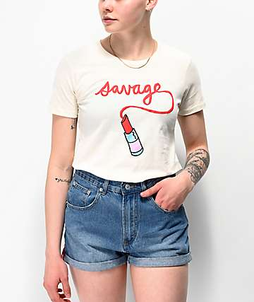 JV by Jac Vanek Savage Beige T-Shirt