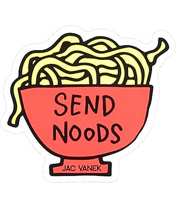 JV by Jac Vanek Send Noods pegatina
