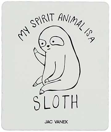JV by Jac Vanek Spirit Sloth Sticker