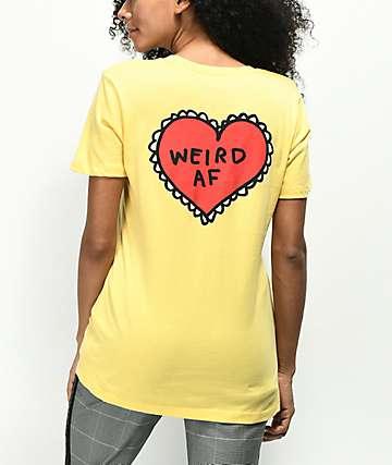 JV by Jac Vanek Weird AF camiseta amarilla