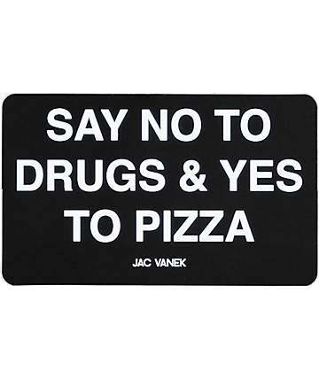 JV by Jac Vanek Yes To Pizza Black Sticker