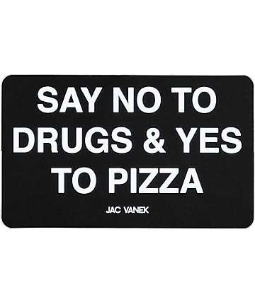 JV by Jac Vanek Yes To Pizza sticker en negro