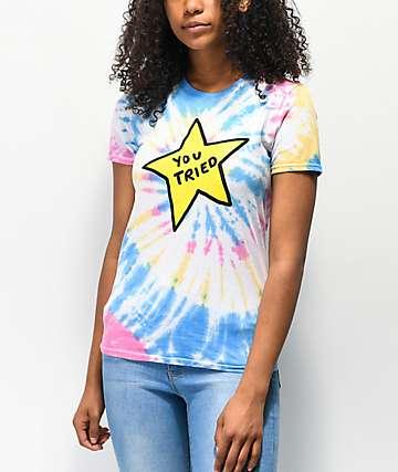 JV by Jac Vanek You Tried Tie Dye T-Shirt