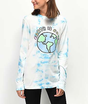 JV by Jack Vanek Earth Is Cool Blue Long Sleeve T-Shirt