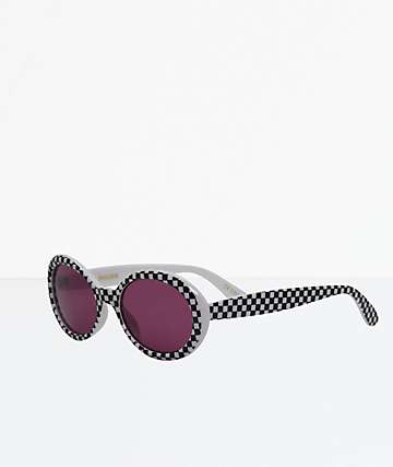 Jagger Checker Clout Sunglasses