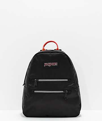 JanSport Half Pint 2 Black & Rainbow Mini Backpack