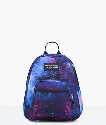 JanSport Half Pint Deep Space Galaxy Mini Backpack