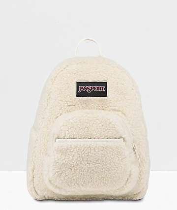 JanSport Half Pint FX Soft Tan Sherpa Mini Backpack