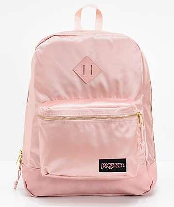 JanSport Super Fx Rose Smoke Gold Backpack