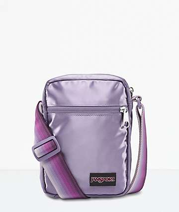 JanSport Weekender FX Satin Summer Purple Crossbody Bag
