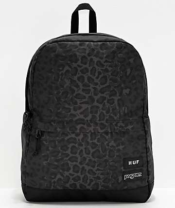 JanSport x HUF Wells Black Leopard Backpack