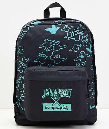 JanSport x Mark Gonzales The Gonz FX Black & Green Backpack