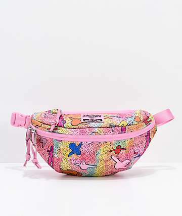 JanSport x Mark Gonzales The Gonz Oaktown Pink Fanny Pack