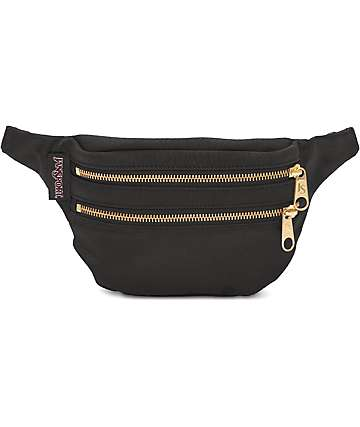 Jansport Hippyland Black & Gold Fanny Pack