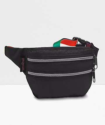 Jansport Hippyland Rainbow Webbing Fanny Pack
