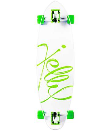 """Jelly Man O' War 34"""" Lime pintail longboard completo"""