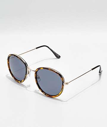Jelly Tortoise & Shiny Gold Sunglasses