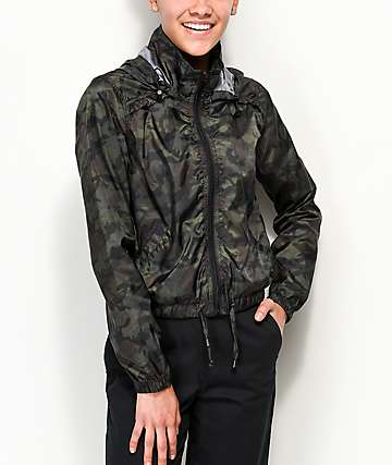 Jolt Camo Cropped Windbreaker Jacket