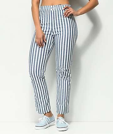 Jolt Jilden pantalones cortos a rayas azules y blancas