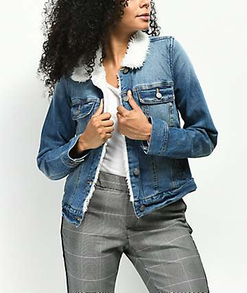Jolt Sherpa Lined Denim Jacket