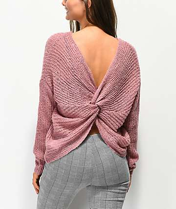 Jolt suéter anudado de color malva