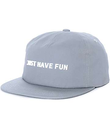 Just Have Fun All Is One Grey Strapback Hat