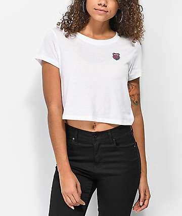 K-Swiss Tiebreaker camiseta corta blanca