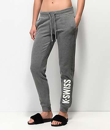 K-Swiss Triple Crown Grey Jogger Sweatpants