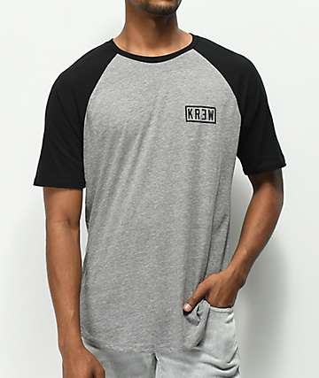 KR3W Bold Locker camiseta gris y negra