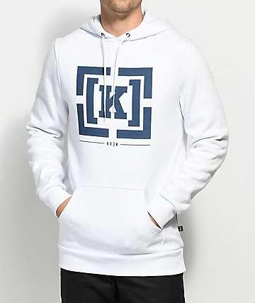 KR3W Bracket White Fleece Hoodie