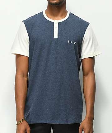 KR3W Daze camiseta de punto azul jaspeado