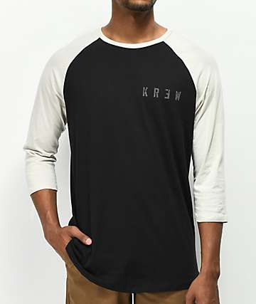 KR3W Distress Locker Black Baseball T-Shirt