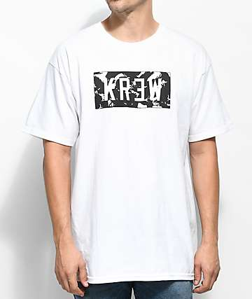 KR3W Flock Locker White T-Shirt
