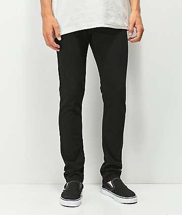 KR3W K Skinny Black Jeans