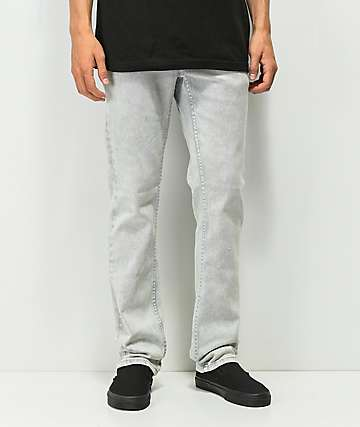 KR3W K jeans ajustados con lavado acido gris