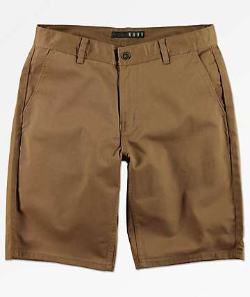 KR3W Klassic Coffee Brown Chino Shorts